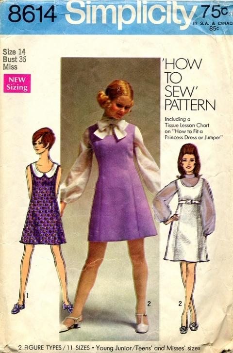Kleid 60er stil nahen