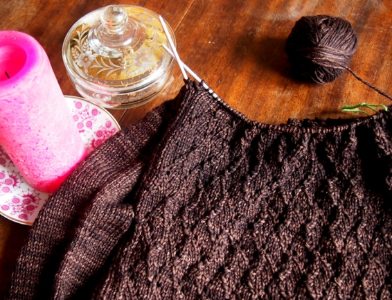 Pullover in chocolat