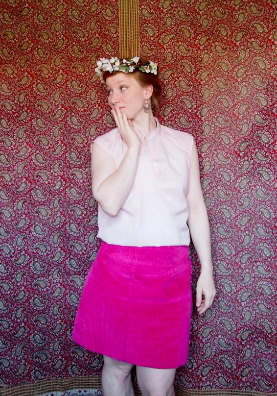 rosa Bluse